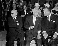 Le Chef de l'union-Nationale Antonio Barrette,<br /> 6 Mai 1962, <br /> a Trois-Rivieres<br /> <br /> <br /> PHOTO :  Agence Quebec Presse