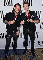BEVERLY HILLS, CA, USA - MAY 13: Tyler Hubbard, Brian Kelley, Florida Georgia Line at the 62nd Annual BMI Pop Awards held at the Regent Beverly Wilshire Hotel on May 13, 2014 in Beverly Hills, California, United States. (Photo by Xavier Collin/Celebrity Monitor)