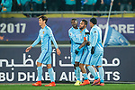 Jiangsu FC Forward Alex Teixeira (C) celebrating his goal with his teammates4 during the AFC Champions League 2017 Group H match between Jiangsu FC (CHN) vs Adelaide United (AUS) at the Nanjing Olympics Sports Center on 01 March 2017 in Nanjing, China. Photo by Marcio Rodrigo Machado / Power Sport Images