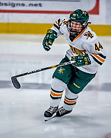1 December 2018: University of Vermont Catamount Defender Anna Erickson, a Sophomore from Stillwater, MN, in second period play against the University of Maine Black Bears at Gutterson Fieldhouse in Burlington, Vermont. The Lady Cats defeated the Lady Bears 3-2 in the second game of their 2-game Hockey East series. Mandatory Credit: Ed Wolfstein Photo *** RAW (NEF) Image File Available ***
