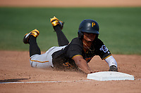Pittsburgh Pirates Jean Eusebio (52) during a minor league Spring Training game against the Philadelphia Phillies on March 13, 2019 at Pirate City in Bradenton, Florida.  (Mike Janes/Four Seam Images)