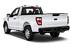 Car pictures of rear three quarter view of 2021 Ford F-150 XL 4 Door Pick-up Angular Rear