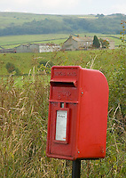Isolated post box near Lancaster.