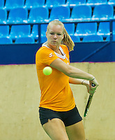 Moskou, Russia, Februari 3, 2016, Fed Cup Russia-Netherlands,  Practise Dutch team,  Kiki Bertens <br /> Photo: Tennisimages/Henk Koster