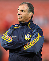 Head coach Bruce Arena of the Los Angeles Galaxy during an MLS match against D.C. United at RFK Stadium, on April 9 2011, in Washington D.C. The game ended in a 1-1 tie.
