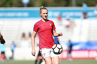 Cary, NC - Sunday October 22, 2017: Samantha Mewis prior to an International friendly match between the Women's National teams of the United States (USA) and South Korea (KOR) at Sahlen's Stadium at WakeMed Soccer Park. The U.S. won the game 6-0.
