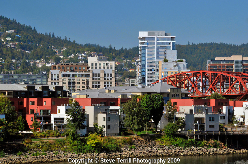 Broadway Bridge and Pearl District of Portland Oregon