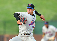 August 2, 2009: LHP Jhonathan Torres (47) of the Kingsport Mets, rookie Appalachian League affiliate of the New York Mets, in a game at Pioneer Park in Greeneville, Tenn. Photo by:  Tom Priddy/Four Seam Images