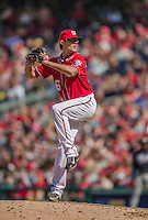 6 April 2014: Washington Nationals pitcher Tyler Clippard on the mound against the Atlanta Braves at Nationals Park in Washington, DC. The Nationals defeated the Braves 2-1 to salvage the last game of their 3-game series. Mandatory Credit: Ed Wolfstein Photo *** RAW (NEF) Image File Available ***