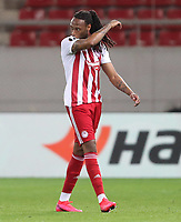 12th March 2020, Pireas, Greece; Europa League football, Olympiakos versus Wolves; Borges Semedo  of Olympiakos leaves the field after a red card in the 28th minute