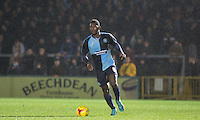 Aaron Pierre of Wycombe Wanderers in action during the Sky Bet League 2 match between Wycombe Wanderers and Notts County at Adams Park, High Wycombe, England on 15 December 2015. Photo by Andy Rowland.