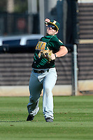 Siena Saints outfielder John Rooney #4 during practice before a game against the Central Florida Knights at Jay Bergman Field on February 16, 2013 in Orlando, Florida.  Siena defeated UCF 7-4.  (Mike Janes/Four Seam Images)