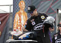 Apr. 6, 2013; Las Vegas, NV, USA: NHRA pro stock driver Vincent Nobile during the K&N Horsepower Challenge during qualifying for the Summitracing.com Nationals at the Strip at Las Vegas Motor Speedway. Mandatory Credit: Mark J. Rebilas-
