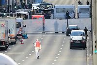 Bruxelles Metropolitana di Maelbeek 22-03-2016<br /> Attacchi terroristici avvenuti la mattina del 22 Marzo all'aeroporto e a due stazioni della metropolitana di Bruxelles <br /> Foto Panoramic / Insidefoto