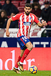 Diego Costa of Atletico de Madrid in action during the La Liga 2017-18 match between Atletico de Madrid and Valencia CF at Wanda Metropolitano on February 04 2018 in Madrid, Spain. Photo by Diego Souto / Power Sport Images