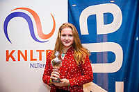 Hilversum, Netherlands, December 3, 2017, Winter Youth Circuit Masters, 12,14,and 16, years, prizegiving 16 years<br /> , 5th place girls Rixt van der Werff. <br /> Photo: Tennisimages/Henk Koster