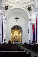 Antigua, Guatemala.  La Merced Church, Interior.