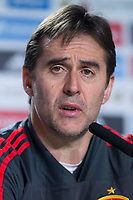 Spain coach Julen Lopetegui during press conference the day before Spain and Argentina match at Wanda Metropolitano in Madrid , Spain. March 26, 2018.  *** Local Caption *** © pixathlon<br /> Contact: +49-40-22 63 02 60 , info@pixathlon.de