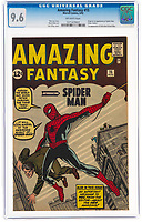 A rare comic which features Spider-Man's first appearance has sold for an auction world record.