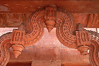 Fatehpur Sikri, Uttar Pradesh, India.  Corbelled Arch in the Diwan-i-Khas (Hall of Private Audience).