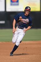 Chris Shehan (13) of the Danville Braves heads towards third base at Dan Daniels Park in Danville, VA, Sunday July 27, 2008.