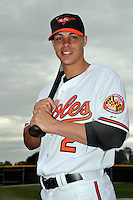 Feb 27, 2010; Tampa, FL, USA; Baltimore Orioles  outfielder Lou Montanez (2) during  photoday at Ed Smith Stadium. Mandatory Credit: Tomasso De Rosa/ Four Seam Images