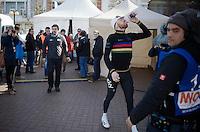 stage winner in his very last TT as World Champion: Sir Bradley Wiggins (GBR/Sky) to the stage<br /> <br /> 3 Days of De Panne 2015<br /> stage 3b: De Panne-De Panne TT