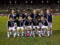 The United States lines up during the semifinals of the CONCACAF Men's Under 17 Championship at Catherine Hall Stadium in Montego Bay, Jamaica. The United States defeated Jamaica, 2-0.