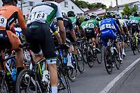 PEREIRA - COLOMBIA, 22-06-2021:  Prueba de ruta Élite hombres con un recorrido de 231.4 km por las calles de la ciuda de Pereira. Campeonatos Nacionales de Ciclismo de Ruta se realiza entre el 17 y el 20 de junio de 2021 en el departamento de Risaralda, dividida en contrarreloj y el circuito. La carrera cuenta con las categorías damas elites y sub 23; y hombres sub 23 y elites. / Elite men route test with a route of 231.4 km through the streets of the city of Pereira. National Road Cycling Championships is held between June 17 and 20, 2021 in the department of Risaralda, divided into time trial and circuit. The race has the categories ladies elites and sub 23; and men under 23 and elites . Photo: VizzorImage / Santiago Castro / Cont