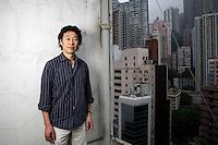 Han Dongfang, labor rights activist and head of the China Labor Bulletin, photographed in Hongkong, China on 17 April, 2008.