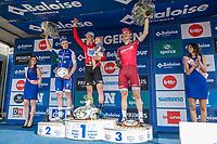 Overall Classification podium with:<br /> 1/ Jens Keukeleire (BEL/Team Belgium)<br /> 2/ Remi Cavagna (FRA/Quick Step Floors)<br /> 3/ Tony Martin (GER/Katusha Alpecin)<br /> <br /> Baloise Belgium Tour 2017 (2.HC)<br /> Stage 5: Tienen - Tongeren 169.6km