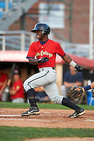 State College Spikes second baseman Dilson Herrera #3 during the second game of a doubleheader against the Jamestown Jammers at Russell Diethrick Park on August 30, 2012 in Jamestown, New York.  Jamestown defeated State College 2-1.  (Mike Janes/Four Seam Images)