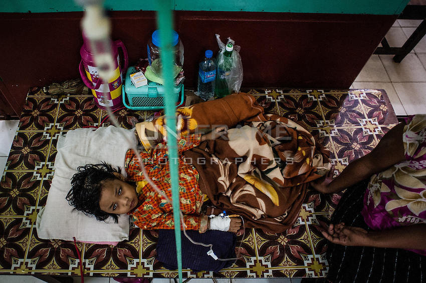 A child suspected for Dengue fever - very common and dangerous decrease for children during rainy season