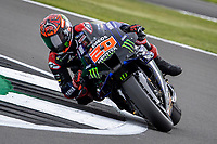 28th August 2021; Silverstone Circuit, Silverstone, Northamptonshire, England; MotoGP British Grand Prix, Qualifying Day; Monster Energy Yamaha MotoGP rider Fabio Quartararo on his Yamaha YZR-M1