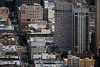 aerial photograph Bush Street San Francisco California