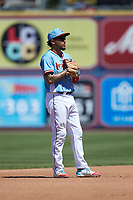 Lehigh Valley Iron Pigs shortstop J.P. Crawford (3) on defense against the Durham Bulls at Coca-Cola Park on July 30, 2017 in Allentown, Pennsylvania.  The Bulls defeated the IronPigs 8-2.  (Brian Westerholt/Four Seam Images)