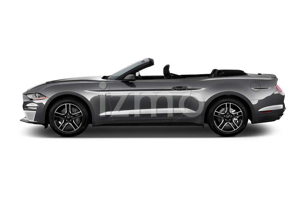 Car driver side profile view of a 2020 Ford Mustang GT Premium 2 Door Convertible