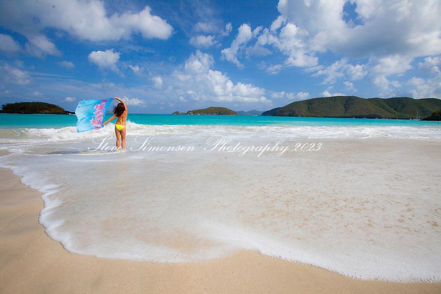 Natalie Klein at Cinnamon Bay.Virgin Islands National Park.St. John, U.S. Virgin Islands