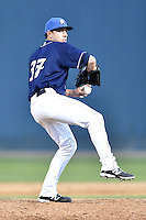 Asheville Tourists pitcher Trent Daniel #37 delivers a pitch during a game against the Lakewood BlueClaws at McCormick Field on May 3, 2014 in Asheville, North Carolina. The BlueClaws defeated the Tourists 7-4. (Tony Farlow/Four Seam Images)