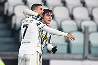 3rd January 2021, Allianz Stadium, Turin Piedmont, Italy; Serie A Football, Juventus versus Udinese; Goal celebration from Cristiano Ronaldo with Dybala