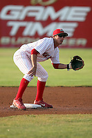 July 18th, 2007:  Jose Garcia of the Batavia Muckdogs, Short-Season Class-A affiliate of the St. Louis Cardinals at Dwyer Stadium in Batavia, NY.  Photo by:  Mike Janes/Four Seam Images