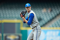 Kentucky Wildcats starting pitcher Sean Hjelle (30) looks to his catcher for the sign against the Houston Cougars in game two of the 2018 Shriners Hospitals for Children College Classic at Minute Maid Park on March 2, 2018 in Houston, Texas.  The Wildcats defeated the Cougars 14-2 in 7 innings.   (Brian Westerholt/Four Seam Images)