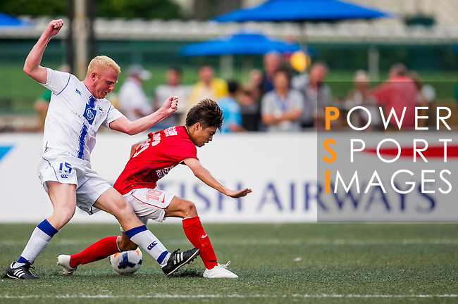 Guangzhou Evergrande vs Hong Kong Football Club during the Day 2 of the HKFC Citibank Soccer Sevens 2014 on May 24, 2014 at the Hong Kong Football Club in Hong Kong, China. Photo by Victor Fraile / Power Sport Images