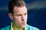 Goalkeeper Marc-Andre Ter Stegen of FC Barcelona prior to the La Liga match between Atletico de Madrid and FC Barcelona at the Santiago Bernabeu Stadium on 26 February 2017 in Madrid, Spain. Photo by Diego Gonzalez Souto / Power Sport Images