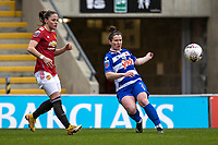 7th February 2021; Leigh Sports Village, Lancashire, England; Women's English Super League, Manchester United Women versus Reading Women; Emma Mitchell of Reading crosses the ball