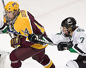 Justin Bostrom, TJ Oshie - The University of Minnesota Golden Gophers defeated the University of North Dakota Fighting Sioux 4-3 on Friday, December 9, 2005, at Ralph Engelstad Arena in Grand Forks, North Dakota.