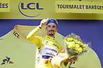 Race leader Julian Alaphilippe (FRA) Deceuninck-Quick Step retains the Yellow Jersey at the end of Stage 14 of the 2019 Tour de France running 117.5km from Tarbes to Tourmalet Bareges, France. 20th July 2019.<br /> Picture: Colin Flockton | Cyclefile<br /> All photos usage must carry mandatory copyright credit (© Cyclefile | Colin Flockton)