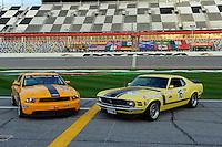 28-31 January, 2010, Daytona Beach, Florida  USA.Ford Mustang Race cars new and old..©F. Peirce Williams 2010 USA.