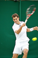 28-06-13, England, London,  AELTC, Wimbledon, Tennis, Wimbledon 2013, Day five, Santiago Giraldo (COL)<br /> <br /> <br /> <br /> Photo: Henk Koster