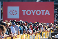 Nov 2, 2019; Las Vegas, NV, USA; General view of Toyota signage during NHRA qualifying for the Dodge Nationals at The Strip at Las Vegas Motor Speedway. Mandatory Credit: Mark J. Rebilas-USA TODAY Sports